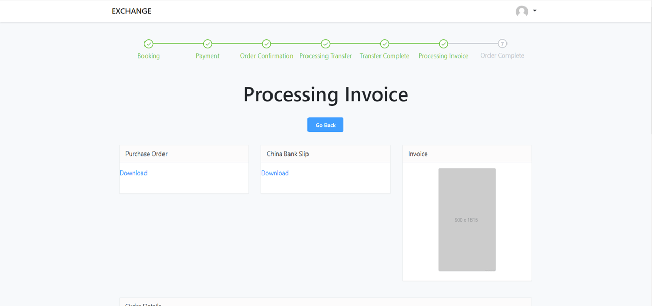 Processing invoice