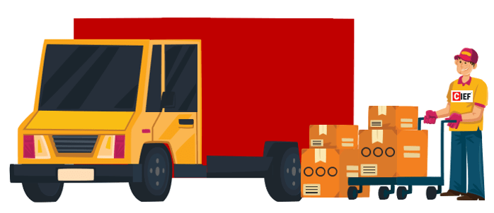 Delivery lorry